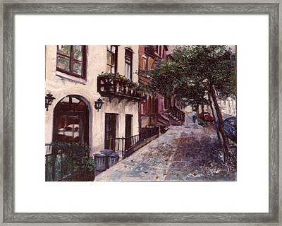 street in the Village NYC Framed Print