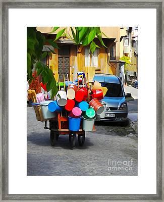 Street Istanbul Framed Print by Lutz Baar