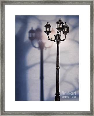 Street Lamp At Night Framed Print by Oleksiy Maksymenko