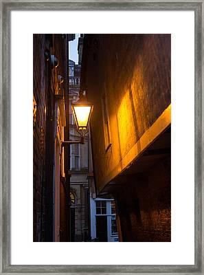 Street Lamp Framed Print by Dawn OConnor