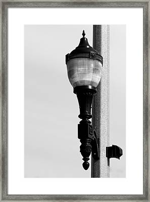 Street Lamp In Bonners Ferry Idaho Framed Print by Karon Melillo DeVega