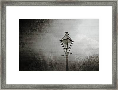 Street Lamp On The River Framed Print