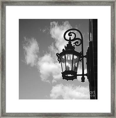 Street Lamp Framed Print by Tony Cordoza