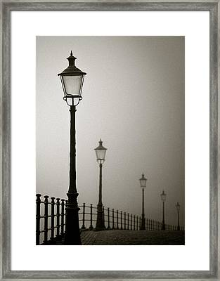 Street Lamps Framed Print by Dave Bowman