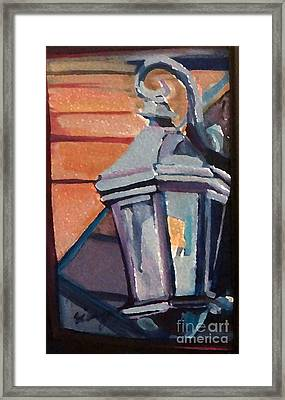 Framed Print featuring the painting Street Lantern by Ecinja Art Works