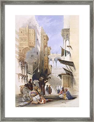 Street Leading To El Azhar, Grand Framed Print