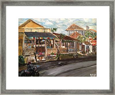 Framed Print featuring the painting Street Life by Belinda Low