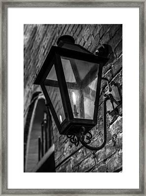 Street Light In Black And White Framed Print by John McGraw