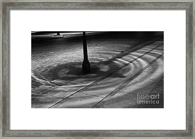 Framed Print featuring the photograph Street Light by Inge Riis McDonald