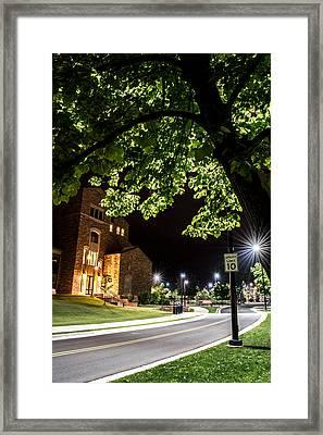 Street Lights In Slow Ville Framed Print