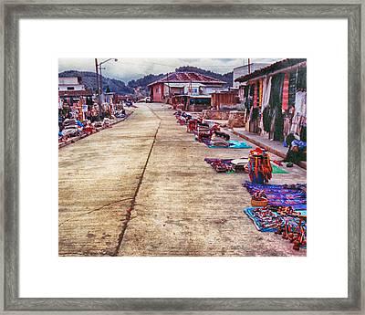 Street Market Framed Print