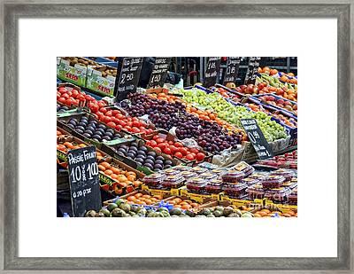 Street Market Flavors By Diana Sainz Framed Print by Diana Sainz
