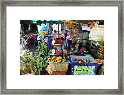 Street Markets - Bangkok Thailand - 01131 Framed Print by DC Photographer