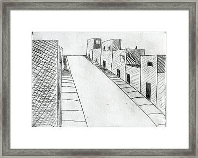 Street Framed Print by Mike Rhineheart