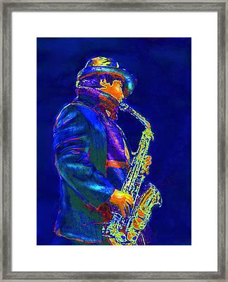 Street Music Framed Print