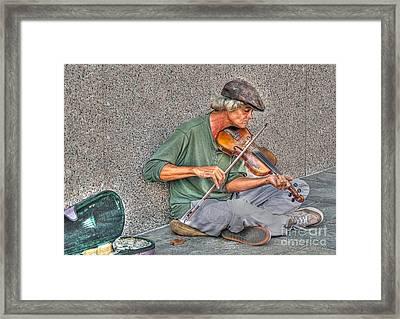 Street Music Framed Print by Kathy Baccari