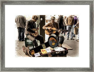 Street Music Framed Print by Spencer McDonald