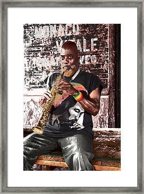 Street Musician Framed Print by Lynn Sprowl