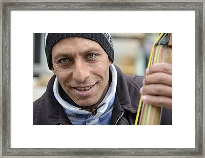 Street Musician - The Gypsy Bassist 1 Framed Print