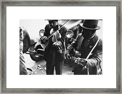 Street Musicians, 1935 Framed Print by Granger