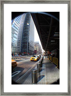 Street Nyc Framed Print by Rogerio Mariani