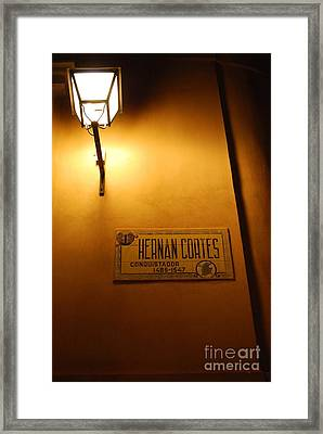Street Of A Conquistador  Framed Print by Susan Hernandez