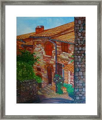 Street Of Assisi Framed Print by Beata Dagiel