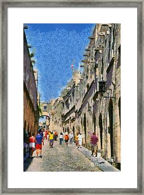 Street Of Knights Framed Print