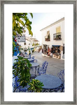 Street Of Mijas Framed Print
