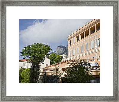 Framed Print featuring the photograph Street Of Monaco by Allen Sheffield