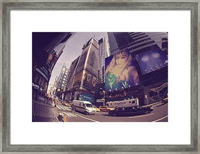 Street Of New York Framed Print by HollyWood Creation By linda zanini