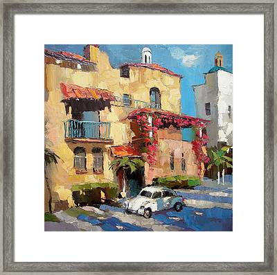 Street Of Playa Del Carmen Framed Print