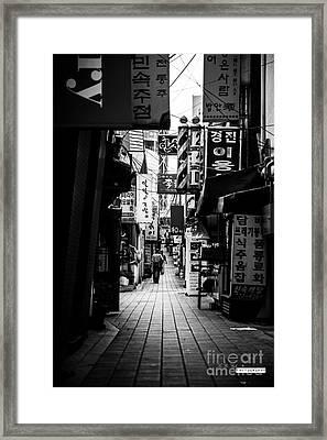 Street Of Signboard Framed Print by Yoo Seok Lee