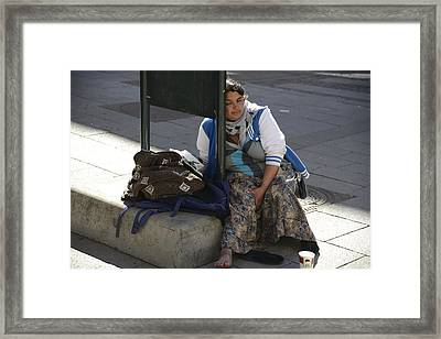 Framed Print featuring the photograph Street People - A Touch Of Humanity 10 by Teo SITCHET-KANDA