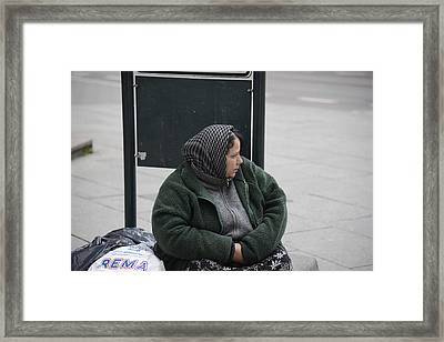 Framed Print featuring the photograph Street People - A Touch Of Humanity 9 by Teo SITCHET-KANDA