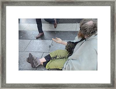 Street People - A Touch Of Humanity 25 Framed Print