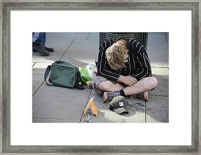Street People - A Touch Of Humanity 8 Framed Print
