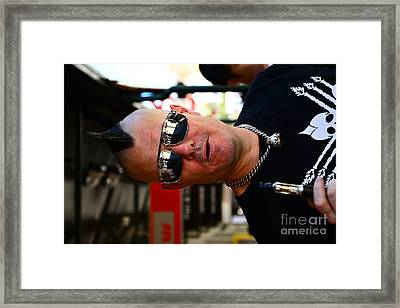 Street Performer Enjoying His Pipe Of Smoke 01 Framed Print by Bobby Mandal