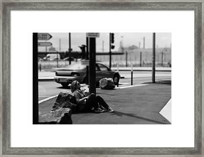 Street Portrait Framed Print by Thomas Leon