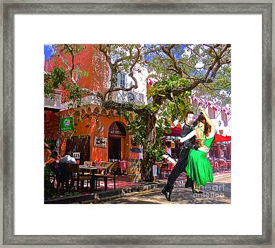 Street Rhythms Framed Print by Judy Kay