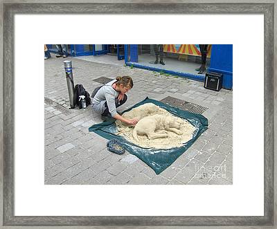 Street Sand Art In Ireland Framed Print