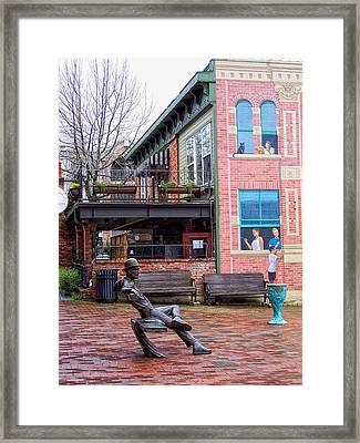 Street Scene Framed Print by Donna Blackhall