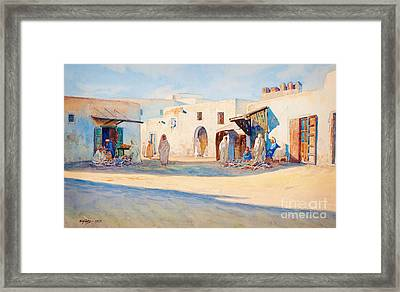 Street Scene From Tunisia. Framed Print by Celestial Images