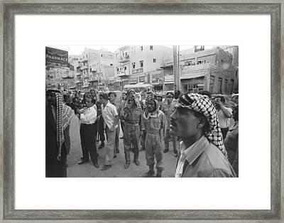 Street Scene In Amman, Jordan Framed Print by Underwood Archives