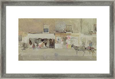 Street Scene In Chelsea Framed Print by James Abbott McNeill Whistler