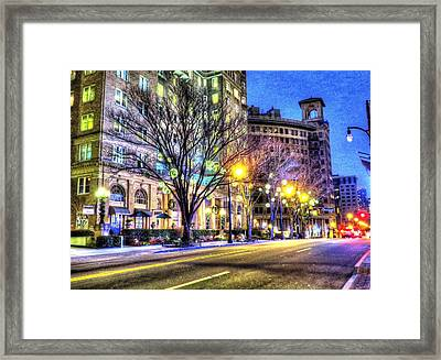 Street Scene In Georgia Framed Print