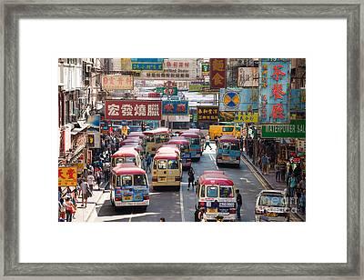 Street Scene In Hong Kong Framed Print
