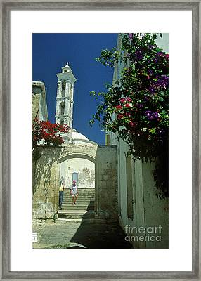 Street-scene In Kyrenia In Northern Cyprus  Framed Print by Alex Cassels