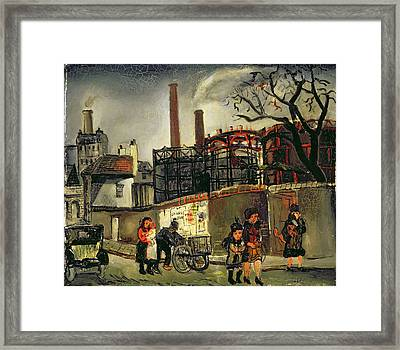 Street Scene In Paris, 1926 Framed Print by Christopher Wood