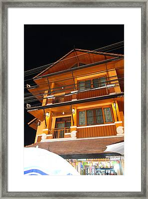 Street Scene - Night Street Market - Chiang Mai Thailand - 01137 Framed Print by DC Photographer